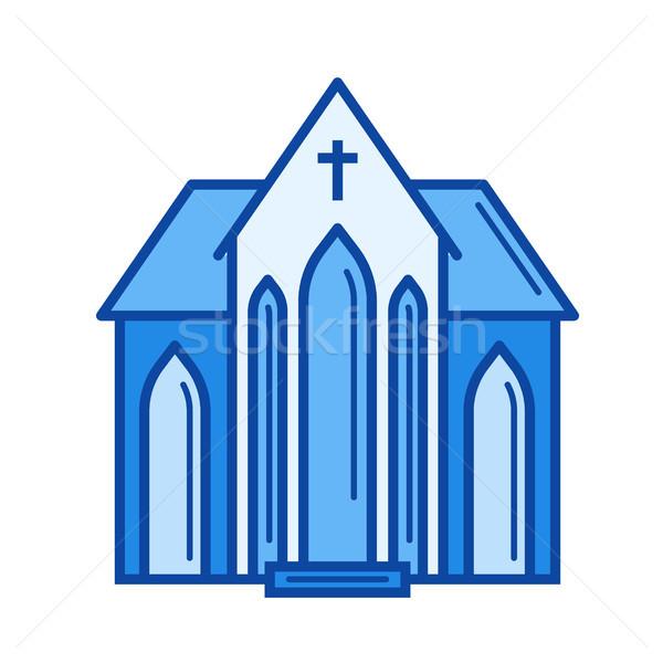 Chiesa line icona vettore isolato bianco Foto d'archivio © RAStudio