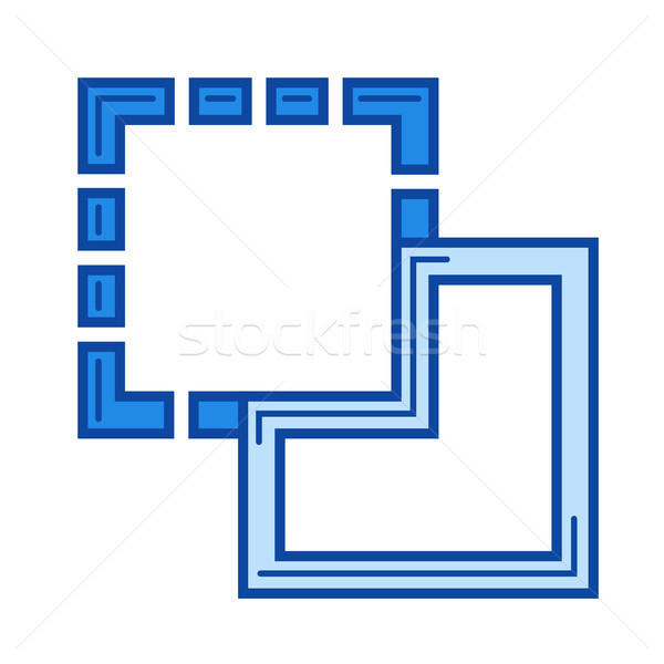 Paste image line icon. Stock photo © RAStudio