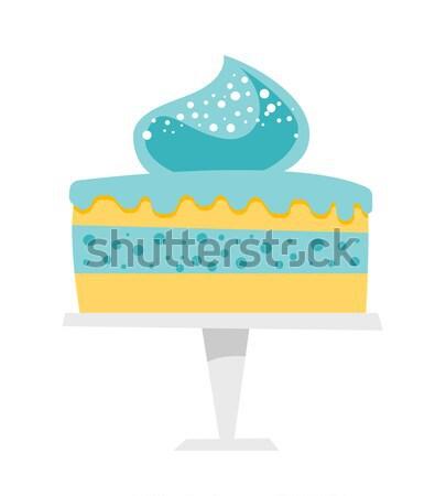Cake on a cake stand vector cartoon illustration. Stock photo © RAStudio