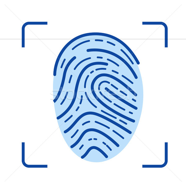 Fingerprint scanner line icon. Stock photo © RAStudio
