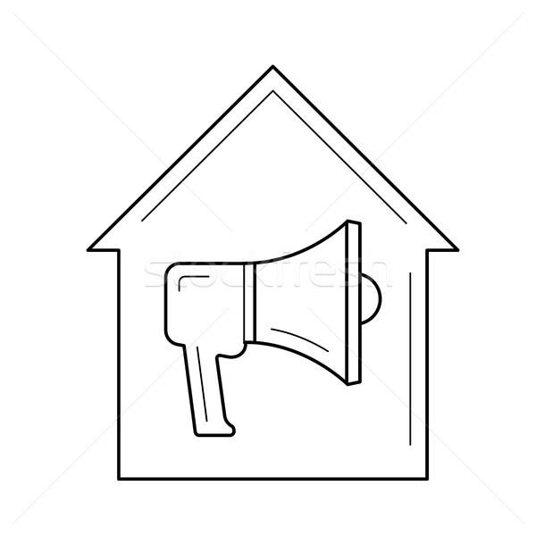 House alarm line icon. Stock photo © RAStudio