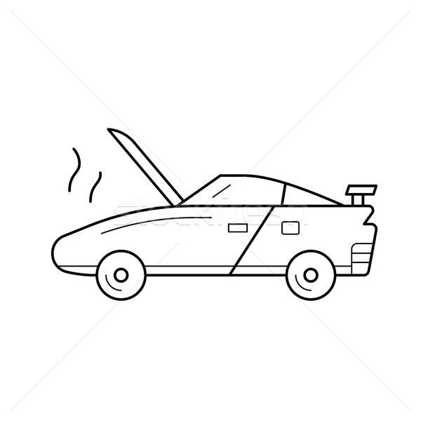 Auto rotta line icona vettore isolato bianco Foto d'archivio © RAStudio