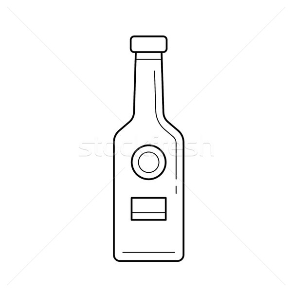 Craft beer bottle vector line icon. Stock photo © RAStudio