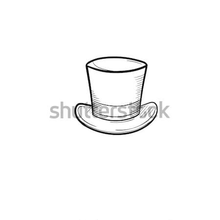 Top hat hand drawn sketch icon. Stock photo © RAStudio