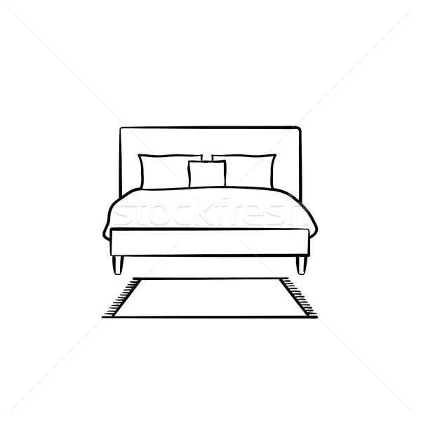 Bed schets icon schets Stockfoto © RAStudio