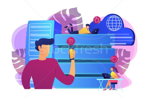 Proxy server concept vector illustration. Stock photo © RAStudio