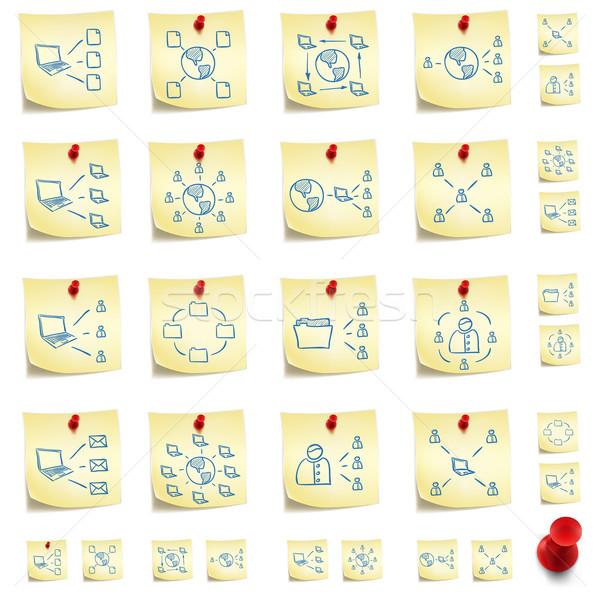 Sticker Icon Set Stock photo © RAStudio