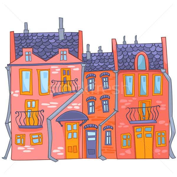 Cartoon casa blanco fondo vector oficina Foto stock © RAStudio