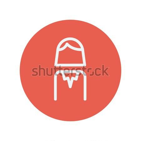 Female thin line icon Stock photo © RAStudio