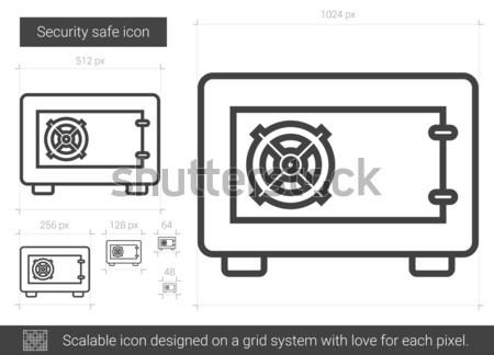 Gas burner thin line icon Stock photo © RAStudio