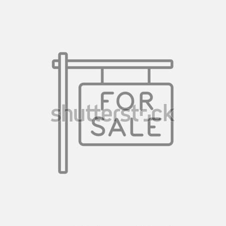 Vásár felirat vékony vonal ikon háló Stock fotó © RAStudio