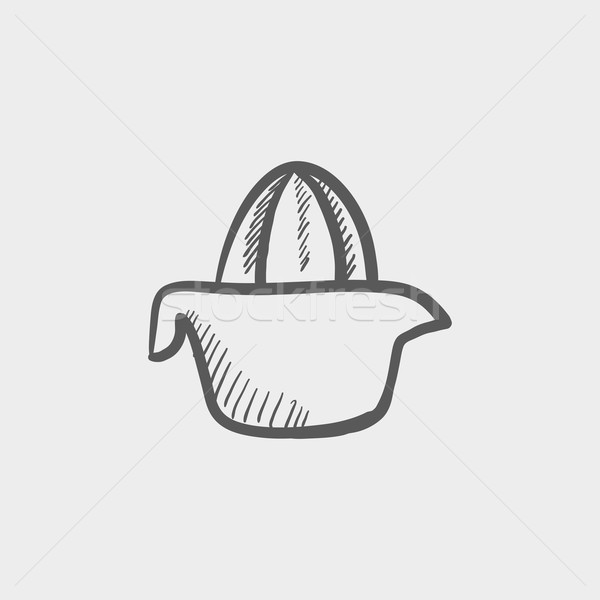 Lemon squeezer sketch icon Stock photo © RAStudio