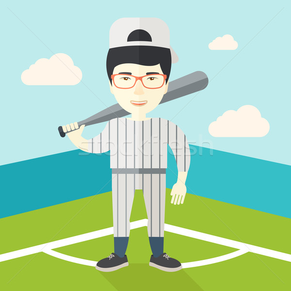 Baseball player on field. Stock photo © RAStudio