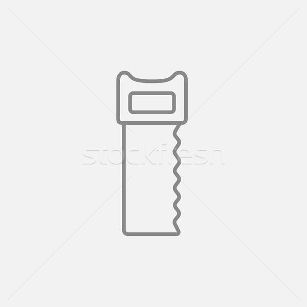 Vu ligne icône web mobiles infographie Photo stock © RAStudio
