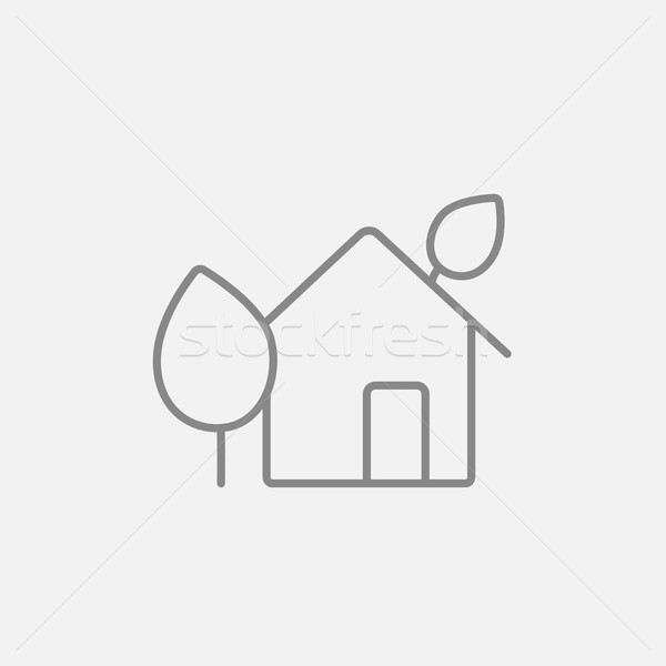 Eco-friendly house line icon. Stock photo © RAStudio