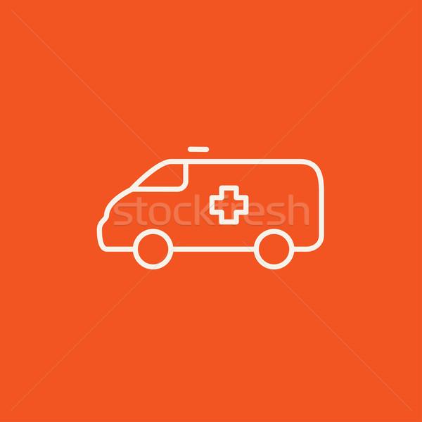 Ambulance voiture ligne icône web mobiles Photo stock © RAStudio