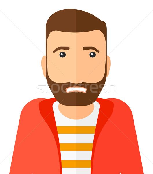 Imbarazzato uomo barba vettore design Foto d'archivio © RAStudio