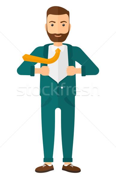 Man taking off jacket. Stock photo © RAStudio