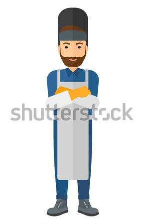 Mosolyog hegesztő hipszter szakáll vektor terv Stock fotó © RAStudio