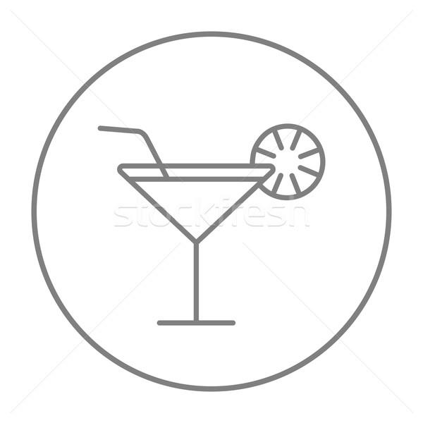 Cocktail glass line icon. Stock photo © RAStudio