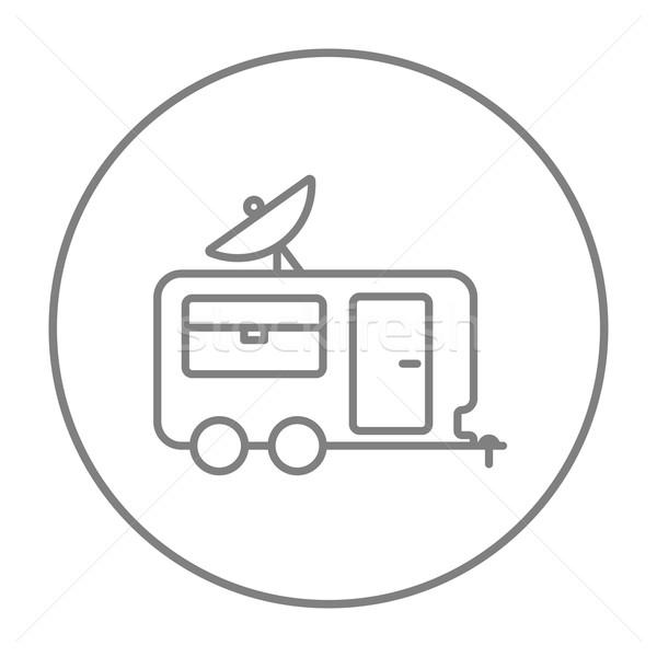 Caravane ligne icône web mobiles Photo stock © RAStudio
