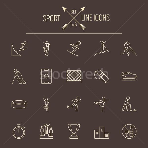 Sport icon set. Stock photo © RAStudio
