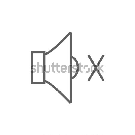 Dempen spreker lijn icon hoeken web Stockfoto © RAStudio