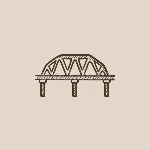 Rail way bridge sketch icon. Stock photo © RAStudio