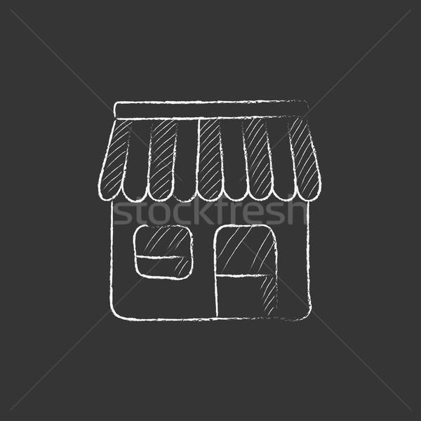 ショップ チョーク アイコン 手描き ベクトル ストックフォト © RAStudio