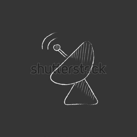Radar antena satelitarna kredy ikona Zdjęcia stock © RAStudio