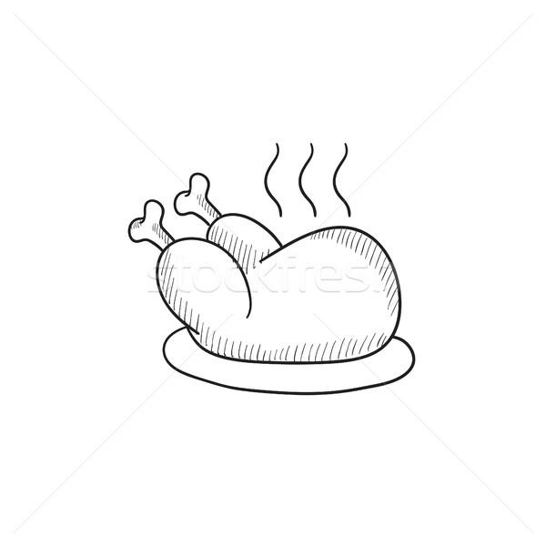 ストックフォト: 全体 · 鶏 · スケッチ · アイコン · ベクトル