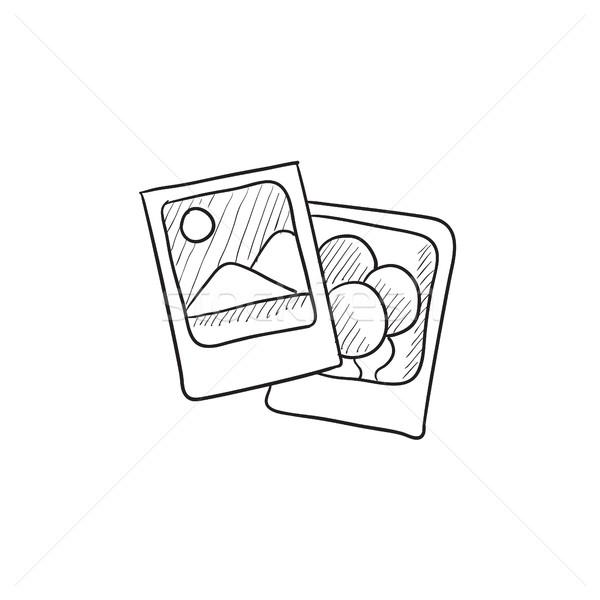 Photos sketch icon. Stock photo © RAStudio