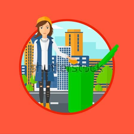 女性 ゴミ ごみ 緑 ストックフォト © RAStudio