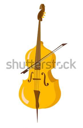 Wooden cello with bow vector illustration. Stock photo © RAStudio