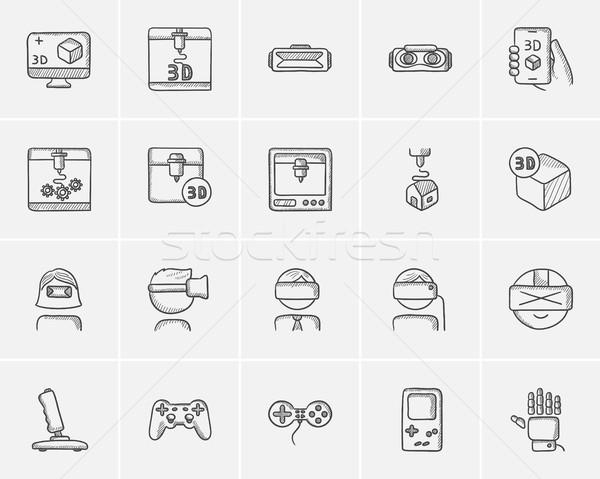 Tecnología boceto web móviles infografía Foto stock © RAStudio
