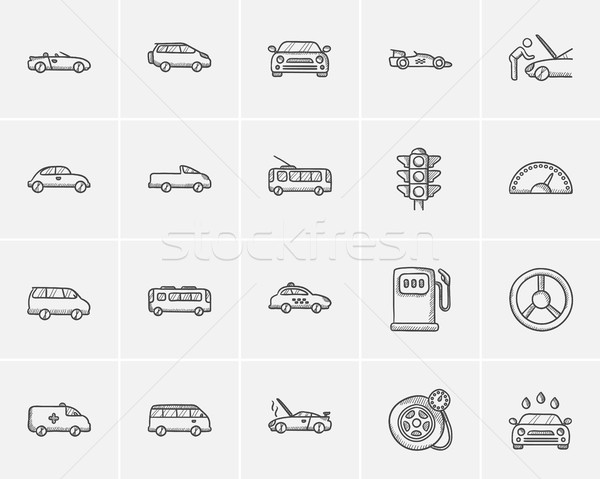 Photo stock: Transport · croquis · web · mobiles · infographie