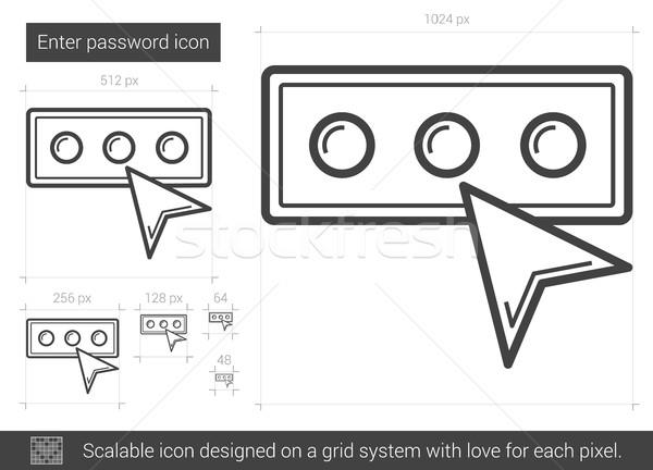 Parola hat ikon vektör yalıtılmış Stok fotoğraf © RAStudio