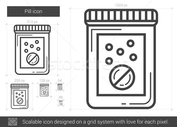 Stock photo: Pill line icon.