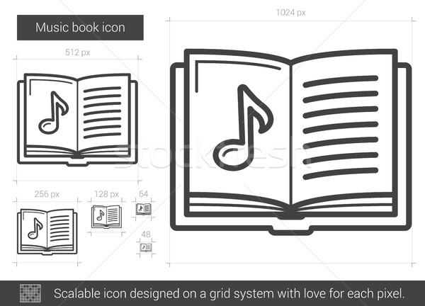 音楽 図書 行 アイコン ベクトル 孤立した ストックフォト © RAStudio