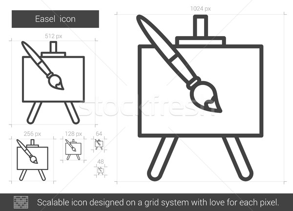 Easel line icon. Stock photo © RAStudio