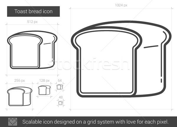 Tost ekmek hat ikon vektör yalıtılmış Stok fotoğraf © RAStudio