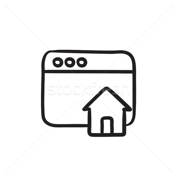 ホームページ スケッチ アイコン ベクトル 孤立した 手描き ストックフォト © RAStudio