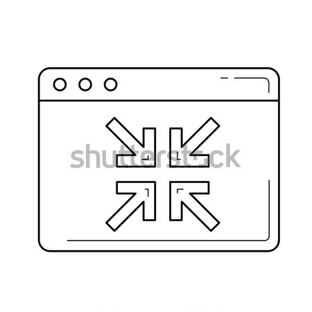 Collapse line icon. Stock photo © RAStudio