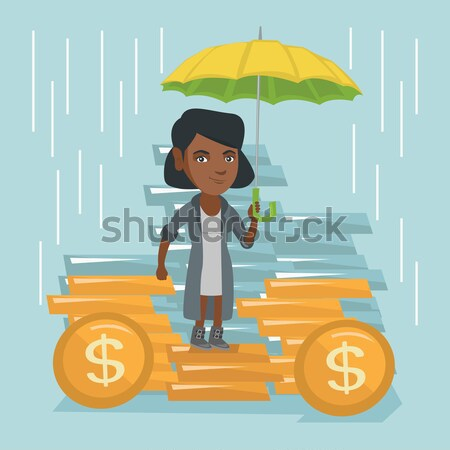 Business man insurance agent with umbrella. Stock photo © RAStudio