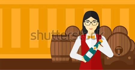 Deux alimentaire boire bannières espace texte Photo stock © RAStudio