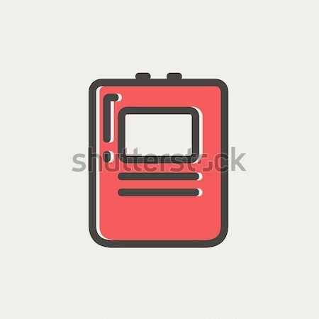 Medical records line icon. Stock photo © RAStudio