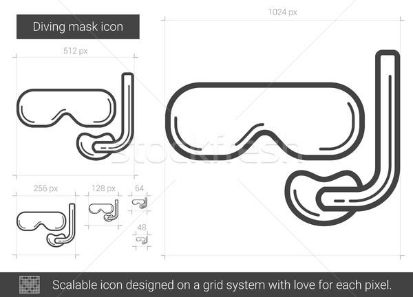 Diving mask line icon. Stock photo © RAStudio