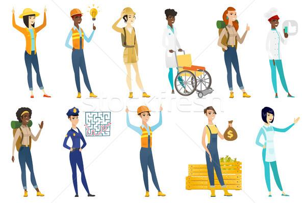 Profissional mulheres vetor ilustrações conjunto profissão Foto stock © RAStudio