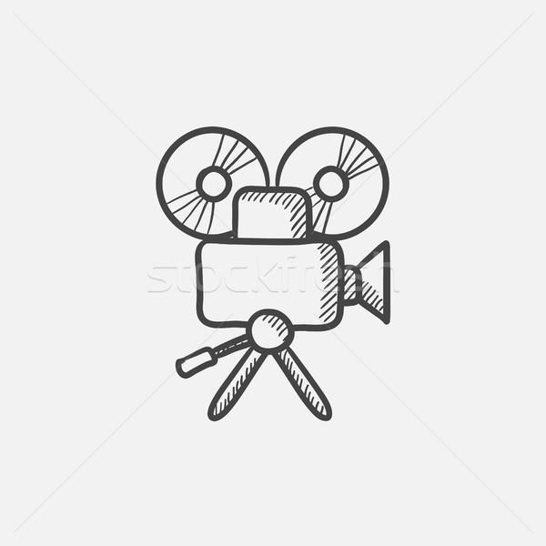 Photo stock: Caméra · vidéo · croquis · icône · web · mobiles · infographie