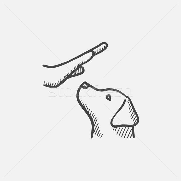 犬の訓練 スケッチ アイコン ウェブ 携帯 ストックフォト © RAStudio